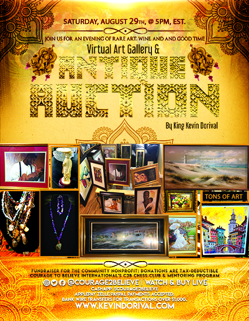 Virtual Art Auction King Kevin Dorival