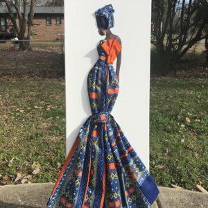 Reine D'Afrique (Queen of Africa) 12x36 $400.00 Stu-Art