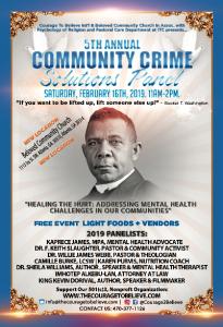 5th Annual Community Crime Solutions Panel @  Interdenominational Theological Center auditorium