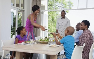 "dinner-table-black-family- ""7 Types of Queens, Kings Desire"""