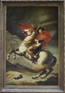 Napoleon Bonaparte Crossing The Alps paining from King Kevin Dorival's collection