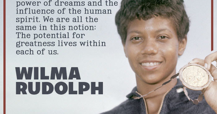 Wilma Rudolph - the winner in the mirror by King Kevin Dorival