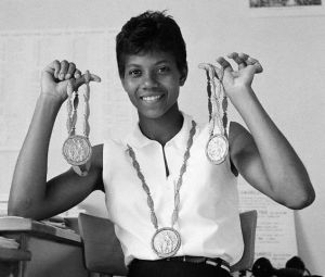 Wilma Rudolph 3 Gold Olympic Medals - 7 types of Queens by King Kevin Dorival